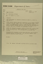 Telegram from John Sabini in Jerusalem to Secretary of State, August 17, 1956