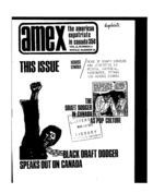 American Expatriate in Canada, Volume 2, Issue 2, Amex-Canada, Vol. 2 no. 2, Whole Number 18, 1970