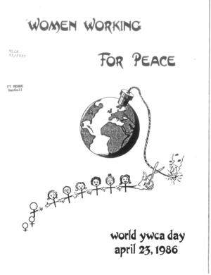 Women Working for Peace: World YWCA Day, April 23, 1986
