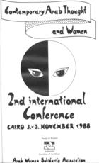 Contemporary Arab Thought and Women: Second International Conference, Cairo 3-5 November, 1988