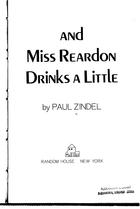 And Miss Reardon Drinks a Little