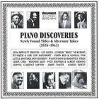 Piano Discoveries (1928-1943)