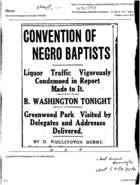 Excerpt, Convention of Negro Baptists