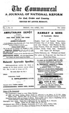 The Commonweal: A Journal of National Reform for God, Crown and Country, Vol. I, No. 15, 10 Apr. 1914