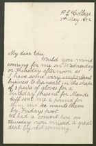 Letter from Ethel Anderson to Edith Thompson, May 3, 1892