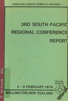 3rd South Pacific Regional Conference Report