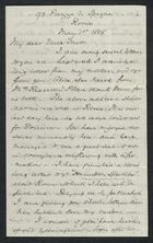 Letter from Samuel Winter Cooke to My dear Uncle Trevor, May 1, 1885