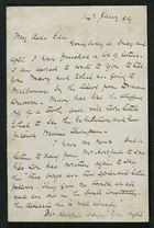 Letter from Robert Anderson to Edith Thompson, January 14, 1889