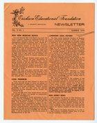 Erickson Educational Foundation Newsletter: Volume 9, Number 1, Summer-1976