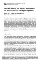 Are We Making the Right Choice to Go for International Exchange Programs?