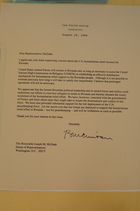 Letter from Bill Clinton to Representative McDade, August 25, 1994