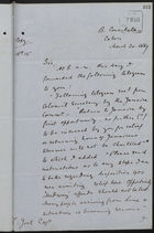 Copy of Letter from C. Mallet to L. Joel re: Telegram and Protest Against Dr. Gayleard's Leaving Isthmus, March 20, 1889