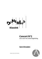 2e concert voor viool met orkest-begeleiding