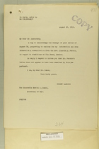 Combined Correspondence Discussing Vice Conditions in Tia Juana, Lower California, Mexico, Aug. 29, 1919 - Jan. 17, 1920