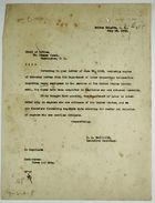 Letter from C. A. McIlvaine to Chief of Office re: Negroes Employed by Panama Canal and Panama Railroad, July 18, 1928