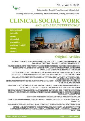 Clinical Social Work and Health Intervention, No. 2, Vol. 5, 2015, Clinical Social Work, No. 2, Vol. 5, 2015
