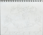 Embers and Stars: the Petr Ginz Story - Rough sketch of the city scenes