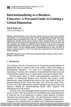 Internationalizing as a Business Educator: A Personal Guide to Gaining a Global Dimension