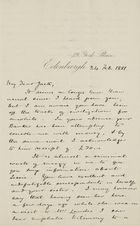Letter from Hugh Lockhart to Robert Logan Jack, February 24, 1881