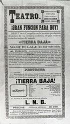 Flyer for a Performance by the Villalongín Company.