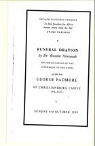 Epitaph to George Padmore