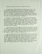 Excerpt from text of Castro's speech of July 26