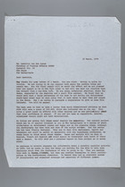 Letter from Mildred Persinger to Laetitia Van Den Assum, March 15, 1979