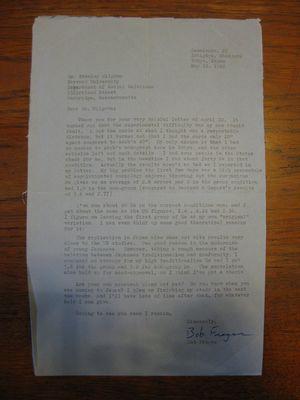 Robert Frager to Stanley Milgram, May 18, 1966