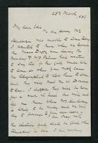 Letter from Robert Anderson to Edith Thompson, March 25, 1889