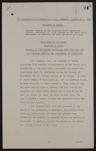 Advance Summary of Sir Kingsley Wood's Speech, September 10, 1936