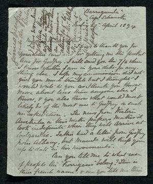 Letter from Edith Thompson to Alfred William Howitt, April 18, 1894