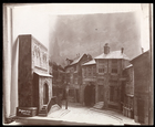 Model of the set of an unidentified play designed by Ernest Gros, 1889 (silver gelatin print)