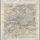 A. A. London Route Map - 6 pm 6th December. Printed by The Automobile Association