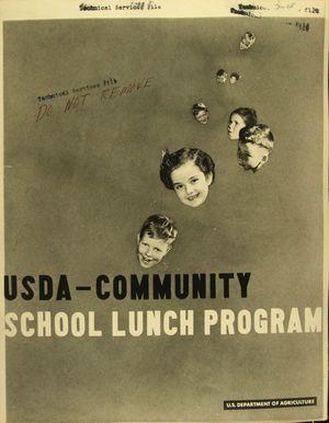 USDA-COMMUNITY SCHOOL LUNCH PROGRAM