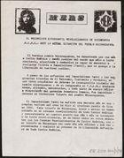 Ante la actual situación del pueblo nicaragüense / M.E.R.S., el Movimiento Estudiantil Revolucionario de Secundaria. (b2488246)