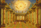 Act II, scene X: the courtyard of the King of Naxos (oil on canvas)