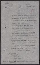 Letter from W. A. Smart to Foreign Office re: Report on the Battle at Museiferah [Al-Musayfirah], September 29, 1925