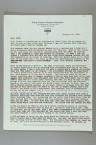 Letter from Clara Davies Brown to Ruth Lois Hill, October 19, 1958