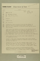 Telegram from Henry Cabot Lodge, Jr. in New York to Secretary of State, May 21, 1956