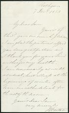 Letter from James Winter to Samuel Pratt Winter, December 7, 1853
