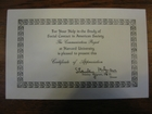 Certificate of Appreciation For Your Help in the Study of Social Contact in American Society