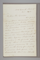 Letter from Sarah Pugh to Mrs. Garrison, October 14, 1861