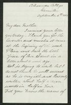 Letter from Edie Anderson to My dear Mother, September 8, 1883