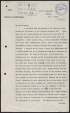 Copy of Letter from D. S. Robertson to Unidentified Colonel re: 1st Battalion, Chinese Labour Corps, en route to France, January 30, 1917