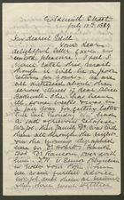 Letter from Annie Howitt to Edith Thompson, July 11, 1889