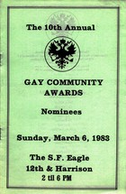 The 10th Annual Gay Community Awards Nominees