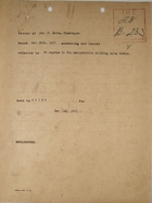 Cover Memo re: Letter of Geo. H. Davis, Timekeeper, re: Negroes in Administration Building Using Towels, December 2, 1907
