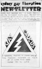 Sydney Gay Liberation Newsletter  - Vol 1, no. 5, November 1972