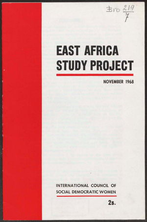East Africa Study Project, November 1968