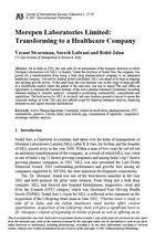 Morepen Laboratories Limited: Transforming to a Healthcare Company